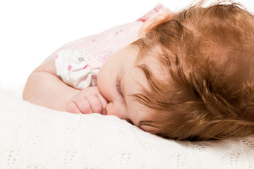 Portrait sleeping baby
