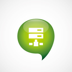 net drive icon green think bubble symbol logo.