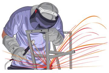 structure welding vector