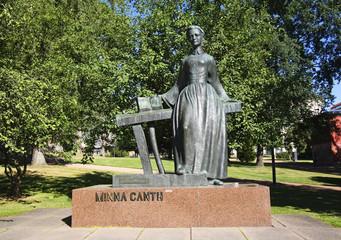 Minna Canth Statue in Jyvaskyla. Finland