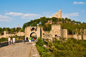 Tsarevets Fortress in Bulgaria