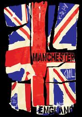 UK national flag. Vector illustration.