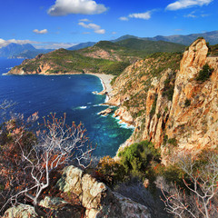 stanning landscapes of Corsica island © Freesurf