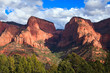 Nagunt Mesa and Timber Top Mountain in Zion Canyon