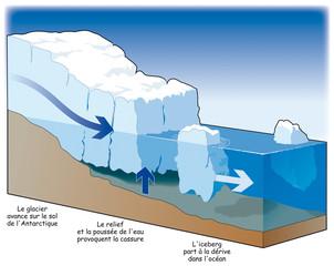 Pôles - Formation d'un iceberg
