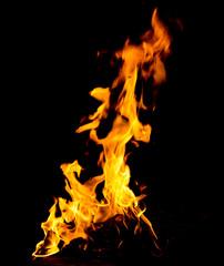 Orange fire flames