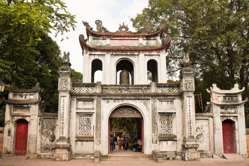 Temple of Literature Gate in Hanoi