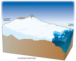 Pôles - Antarctique - Calotte glaciaire