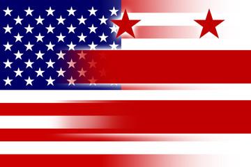 USA and Washington DC Flag