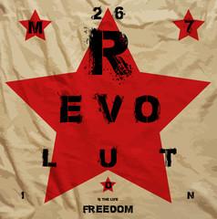 Revolution Freedom Propaganda Poster
