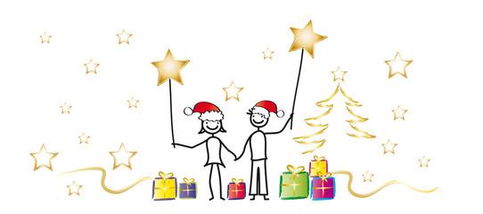 Weihnachten - Sterne - Bannergrafik