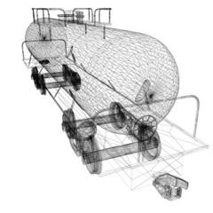 3D model cistern car