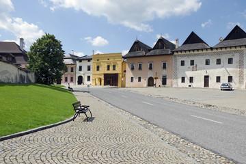 The square of Spisska Sobota in Slovakia