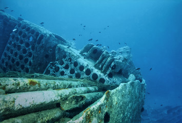 Mediterranean Sea, wreck diving, sunken ship