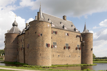 Ammersoyen Castle in the village Ammerzoden in the Netherlands.