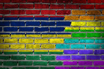 Dark brick wall - LGBT rights - Mauritius