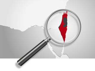 Landkarte *** Israel-Palästina 2 Staaten