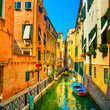 Venice cityscape, buildings, water canal and bridge. Italy - 71414934