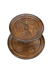 Vase wooden tiered