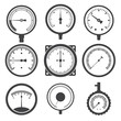 Manometer (pressure gauge) and vacuum gauge icons - 71415587