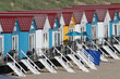 canvas print picture - bunte Strandhäuser