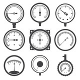 Manometer (pressure gauge) and vacuum gauge icons