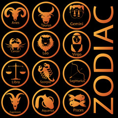 Orange color zodiac