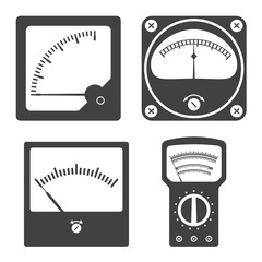Icons of electrical measuring instruments