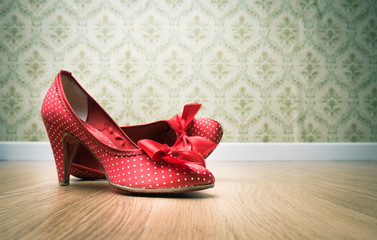 Vintage female shoes