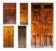 Set of old wooden doors
