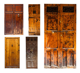 Set of old wooden doors