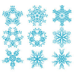 set of snowflakes2