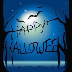 Happy halloween blue moon