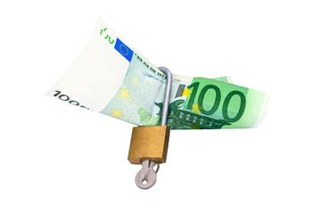 Money under lock