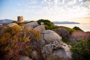Coastal Tower Villasimius, Sardinia, Italy