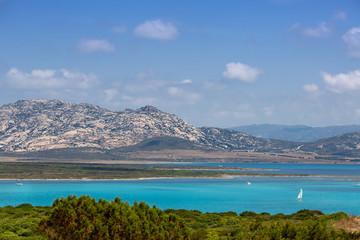 Beautiful sea view near La Pelosa beach, Sardinia