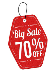 Big sale 70% off red leather label or price tag