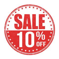 Sale 10% off stamp
