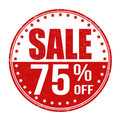 Sale 75% off stamp