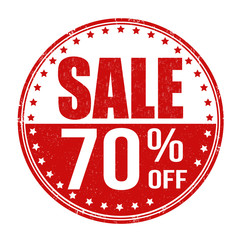 Sale 70% off stamp