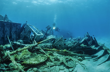 Mediterranean Sea, wreck diving, sunken ship wreck