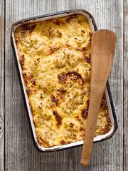 rustic baked cauliflower cheese