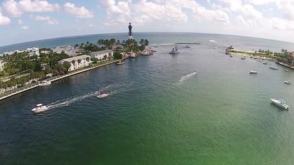 Florida Atlantic coastline seen from high up