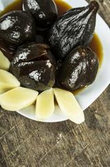 Figs with honey ecuadorian dessert