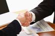 Handshake of business partners.
