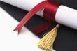 Leinwandbild Motiv A university diploma