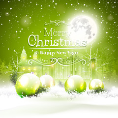 Christmas greeting cardgreen