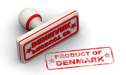 Продукт Дании (product of Denmark). Печать и оттиск