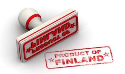 Продукт Финляндии (product of Finland). Печать и оттиск