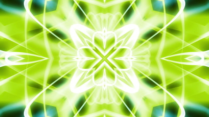VJ Geometric Green Looping Abstract Animated Background